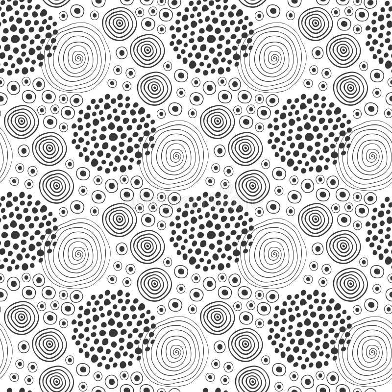 De Textuur van de stof Het naadloze patroon van de manier Textielontwerp Etnische achtergrond met cirkels royalty-vrije illustratie