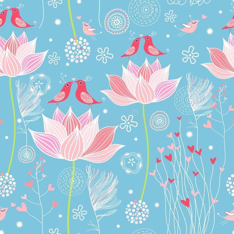 De textuur van de tuin van liefde stock illustratie
