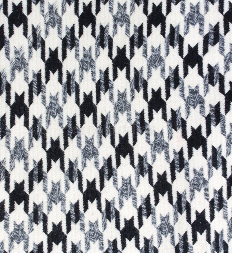 De textuur van de tweedstof houndstooth stock afbeelding