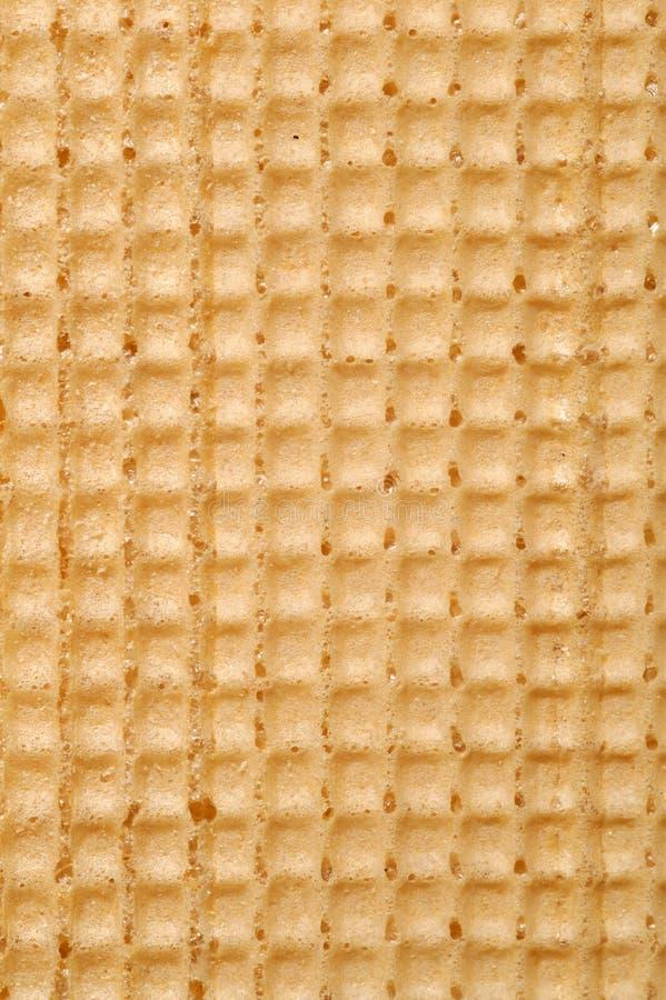 De textuur van de wafel stock fotografie