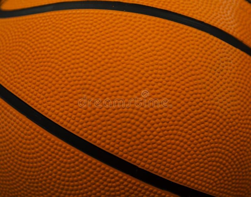 De textuur van een basketbal stock foto