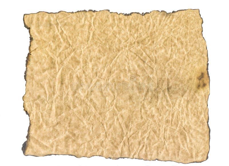 De textuur van gebrand document Oud document met gebrande randen stock afbeeldingen