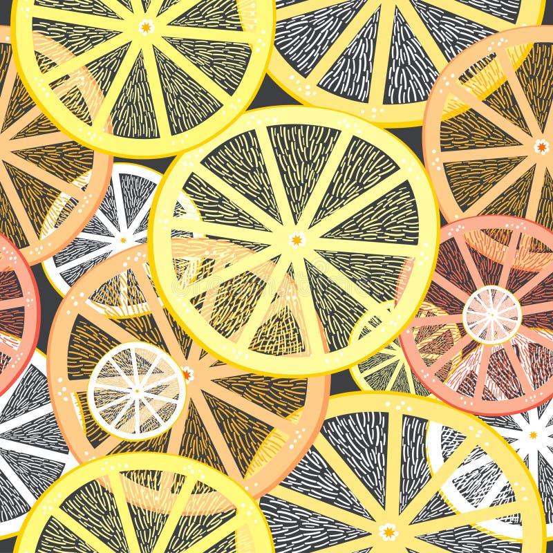 De textuur van gedeelten citroenen stock illustratie