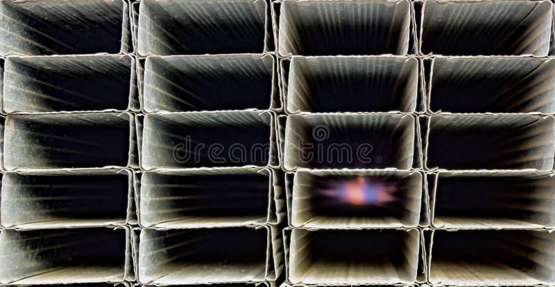 De textuur van gegalvaniseerd staalprofiel in assortiment, sluit omhoog royalty-vrije stock foto