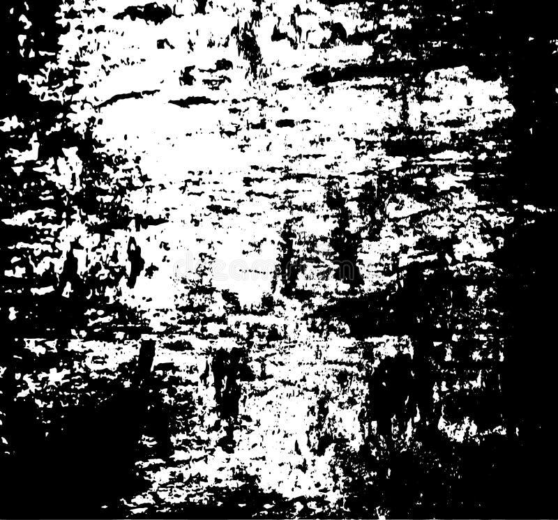 De textuur van Grunge Een witte die vlek op een zwarte achtergrond wordt gekrast Vector illustratie royalty-vrije illustratie