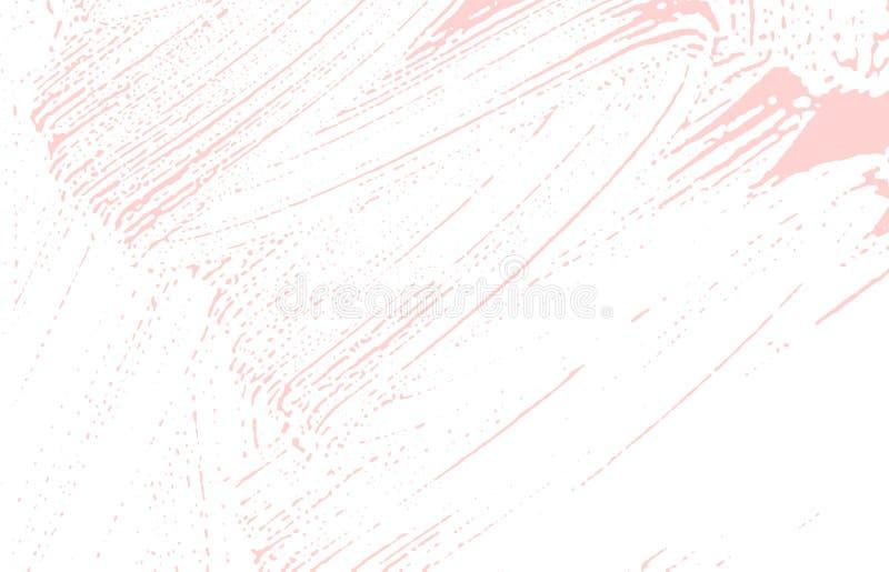 De textuur van Grunge Nood roze ruw spoor Fascina stock illustratie