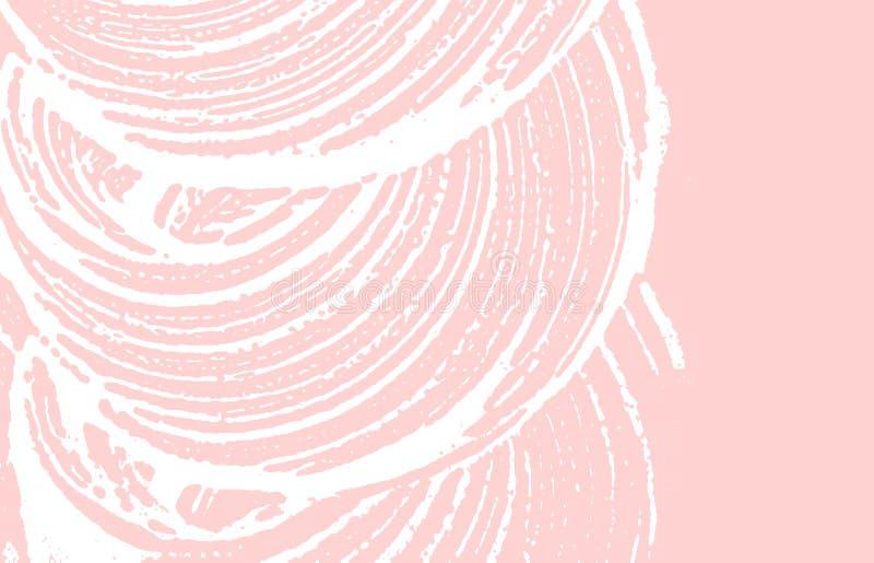De textuur van Grunge Nood roze ruw spoor Grote B stock illustratie