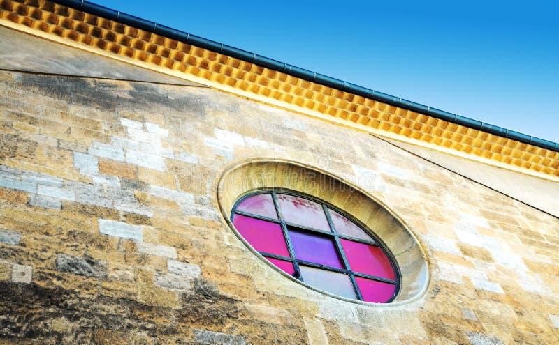 De textuur van Grunge van de kapelmuur royalty-vrije stock fotografie