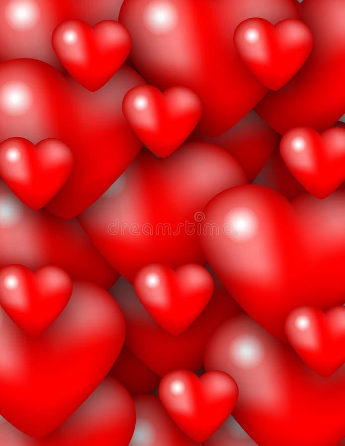 De textuur van harten stock illustratie