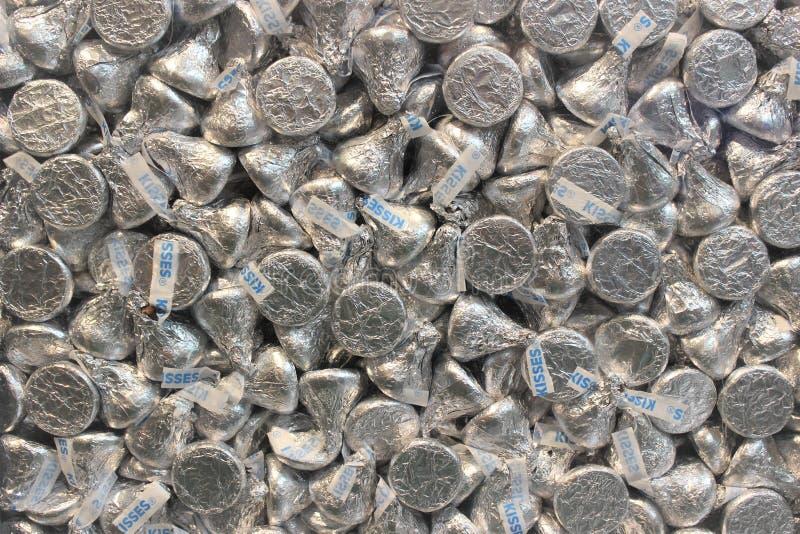 De Textuur van Hersheykussen stock fotografie