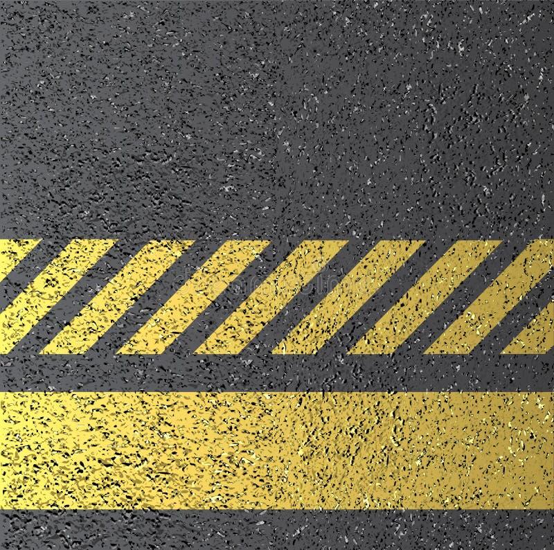 De textuur van het asfalt vector illustratie