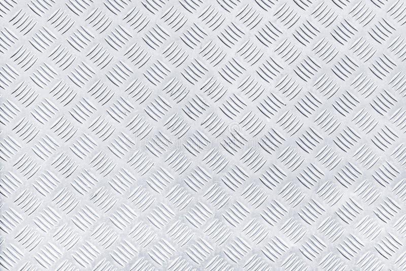De textuur van het de plaatmetaal van de diamantcontroleur royalty-vrije stock fotografie