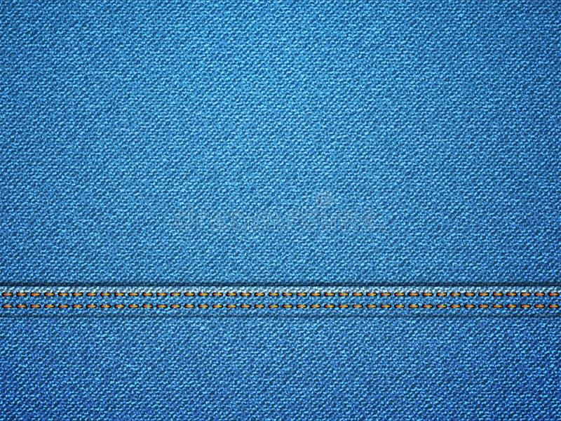 De textuur van het denim vector illustratie