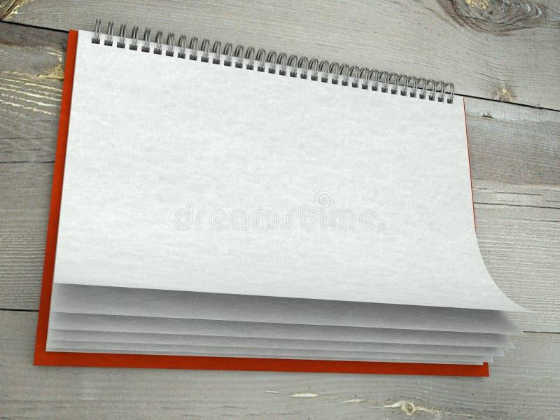 De textuur van het document in blinde muurkalender royalty-vrije stock foto's