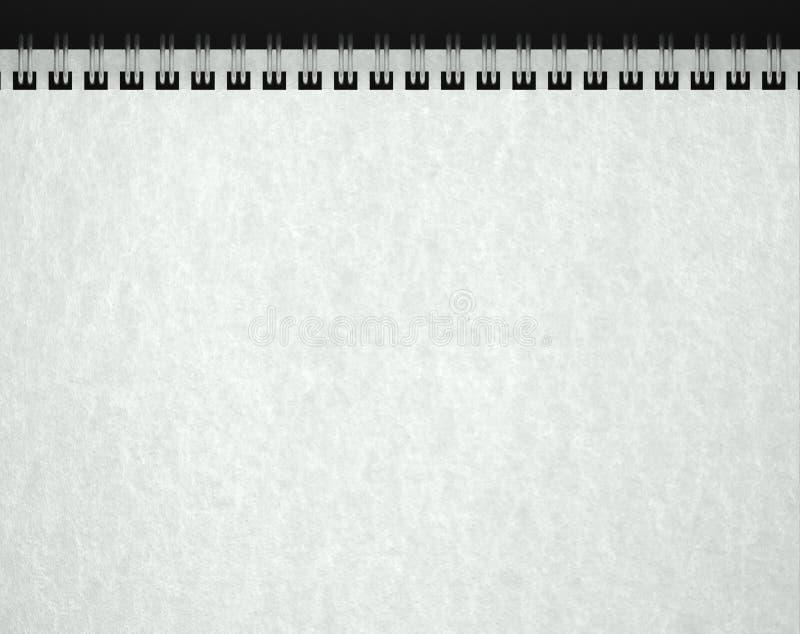 De textuur van het document in leeg notaboek stock afbeeldingen