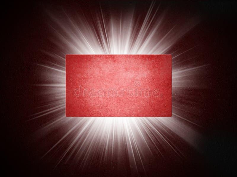 De textuur van het document van adreskaartje 3d presentatie stock illustratie