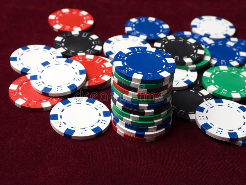 De textuur van het geldspaanders van de casinopook royalty-vrije stock fotografie