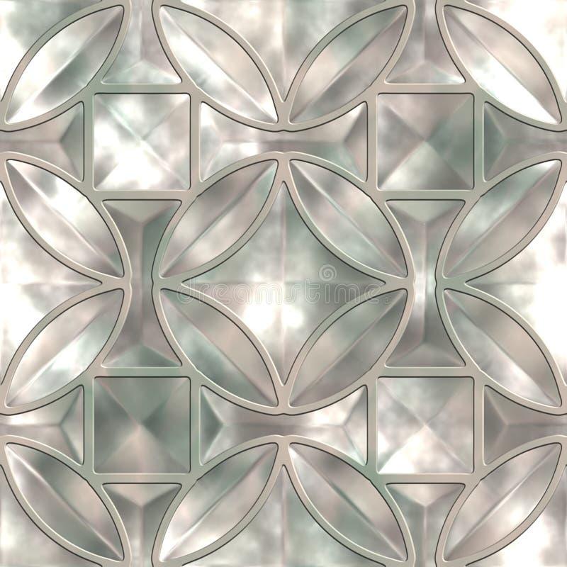 De textuur van het glas stock illustratie