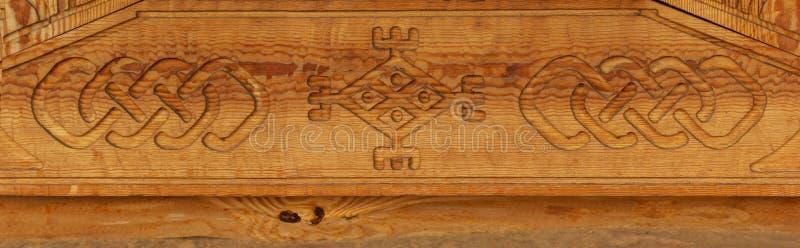 De textuur van het houtsnijwerkpatroon stock foto