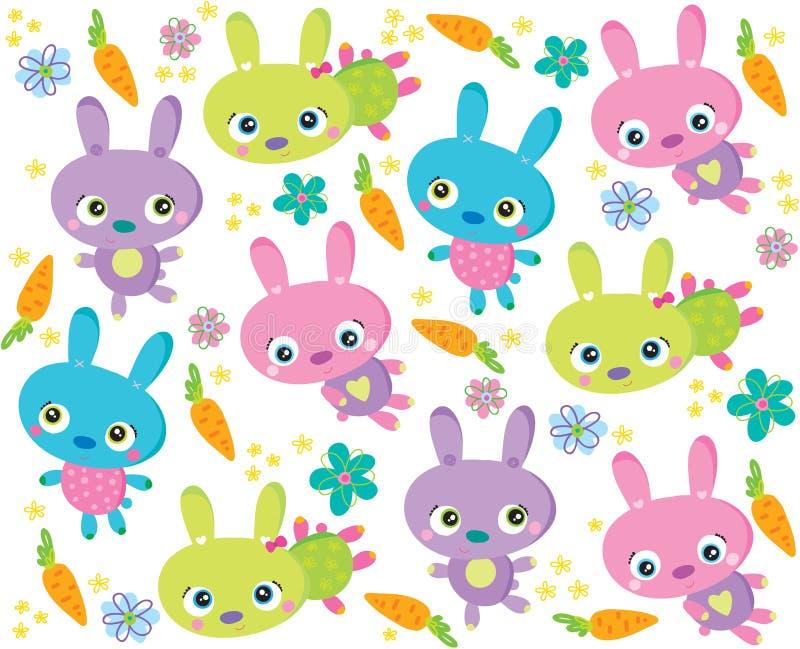 De textuur van het konijn royalty-vrije illustratie