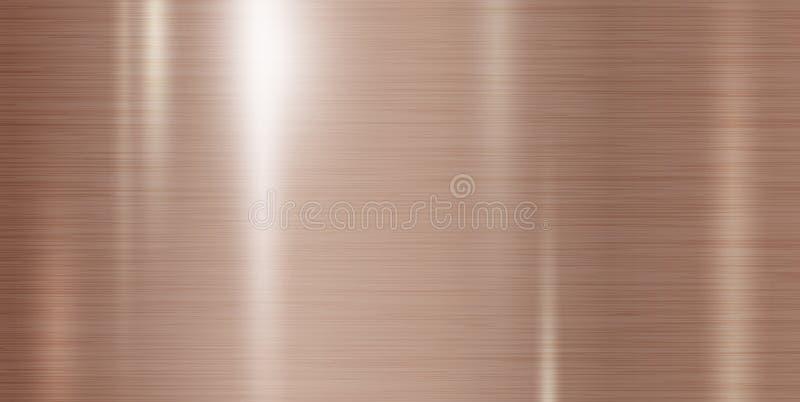 De textuur van het kopermetaal vectorillustratie als achtergrond vector illustratie