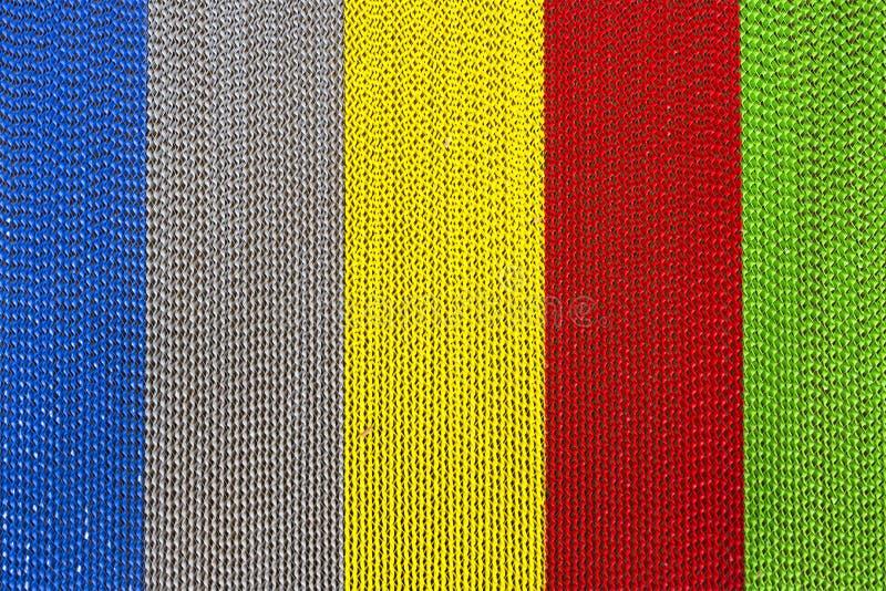 De textuur van het multimetaal van de kleurendraai stock foto's