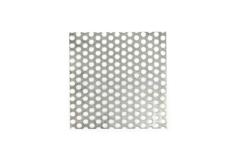 De textuur van het roestvrij staalmetaal op witte achtergrond stock afbeelding