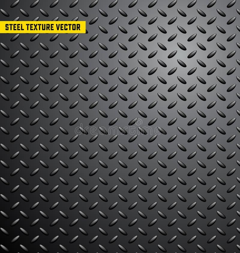De textuur van het staalpatroon backgroung, ijzer, industrieel glanzend metaal, naadloze, roestvrije, metaaltextuur, vectorillutr royalty-vrije illustratie
