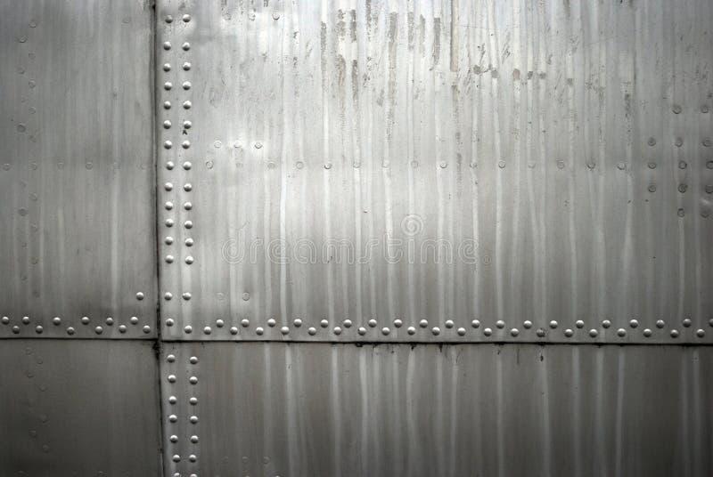 De textuur van het vliegtuigenmetaal stock afbeelding