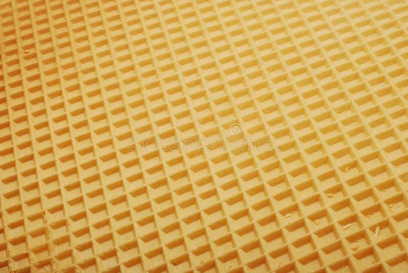 De textuur van het wafeltje stock afbeeldingen