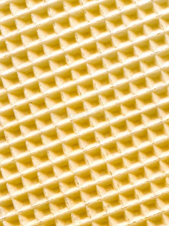 De textuur van het wafeltje stock foto