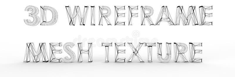 De textuur van het Wireframenetwerk stock fotografie