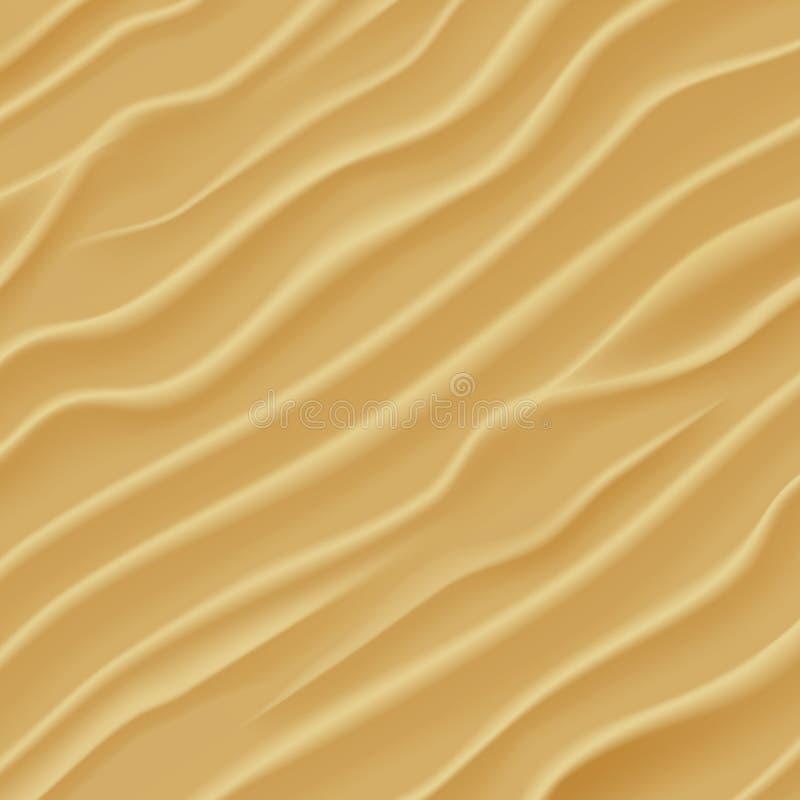 De textuur van het zand De Duinen van het woestijnzand royalty-vrije illustratie
