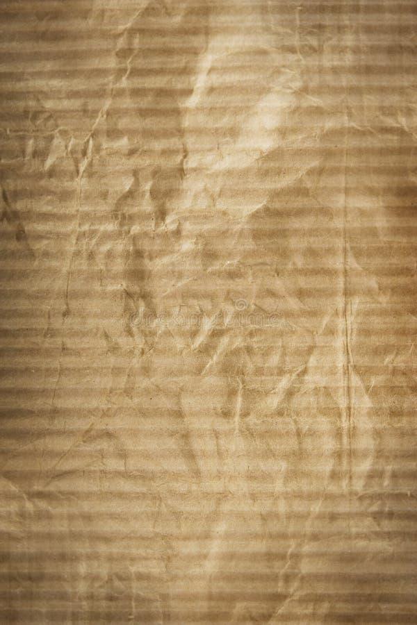 De textuur van karton verfrommelde pakpapier royalty-vrije stock fotografie