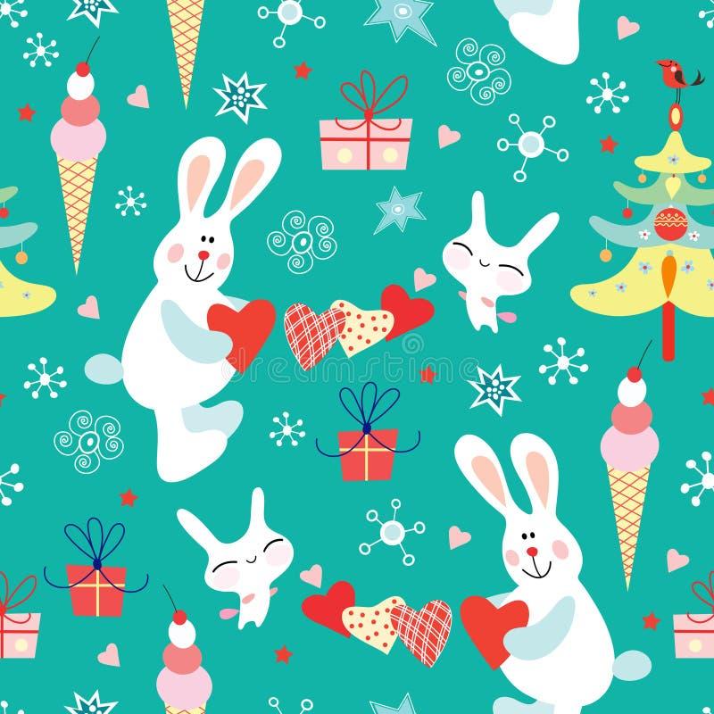 De textuur van Kerstmis royalty-vrije illustratie
