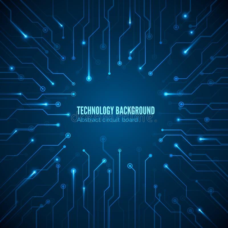 De textuur van de kringshardware Computer chipset verbinding Concept de achtergrond van de kringsraad Abstracte computermotherboa royalty-vrije illustratie