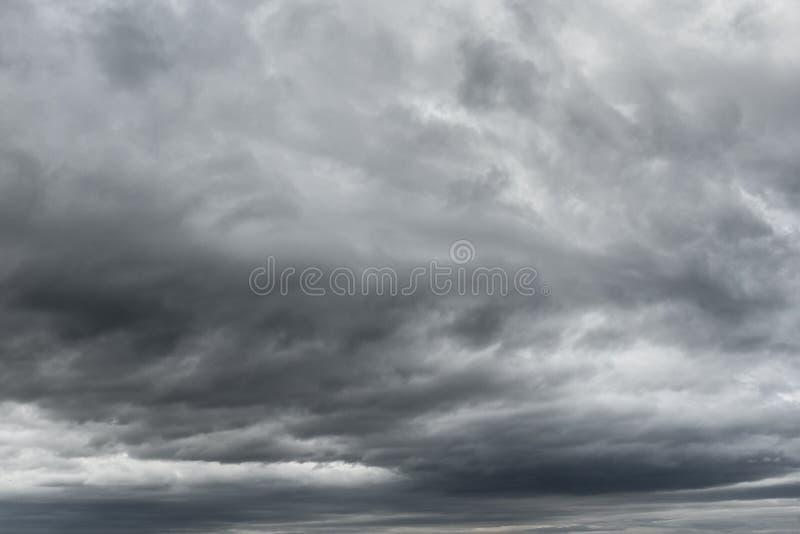 De Textuur van onweersbuiwolken royalty-vrije stock fotografie