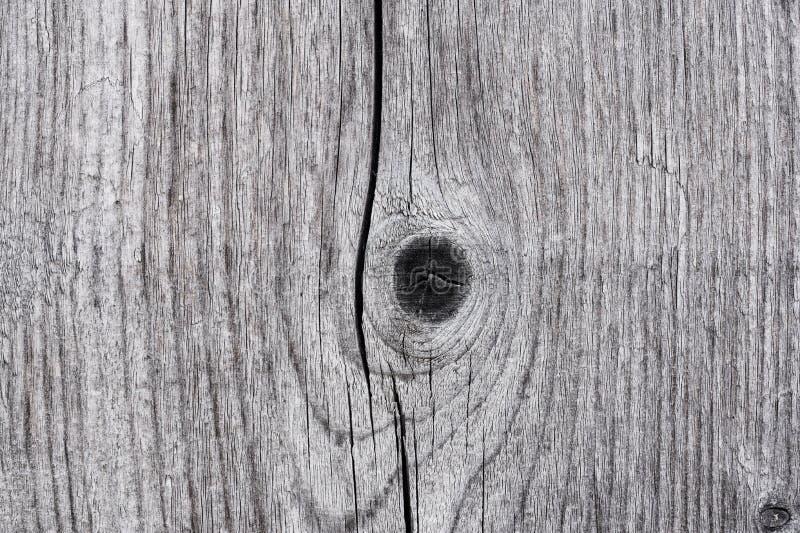De textuur van oude houten plank met knopen sluit omhoog stock foto's