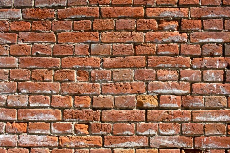 De textuur van de oude rode bakstenen muur royalty-vrije stock afbeeldingen