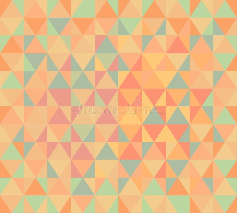 De textuur van de pastelkleurdriehoek royalty-vrije illustratie