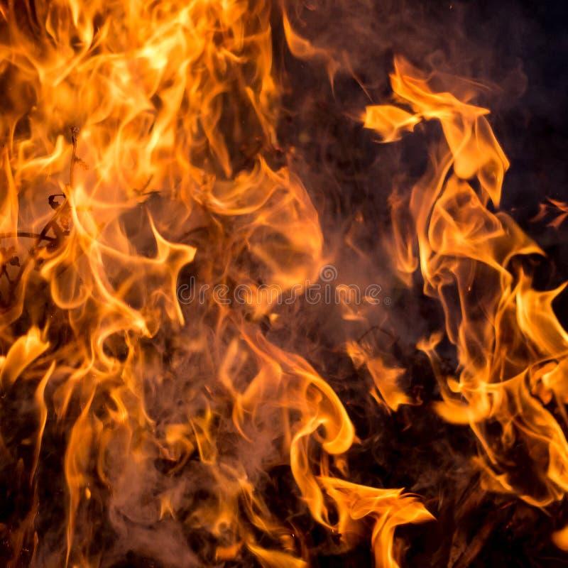 De textuur van rode brand op een zwarte achtergrond stock fotografie