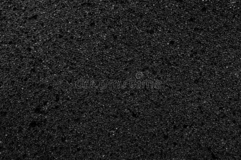 De textuur van de schuimoppervlakte is zwart royalty-vrije stock foto's
