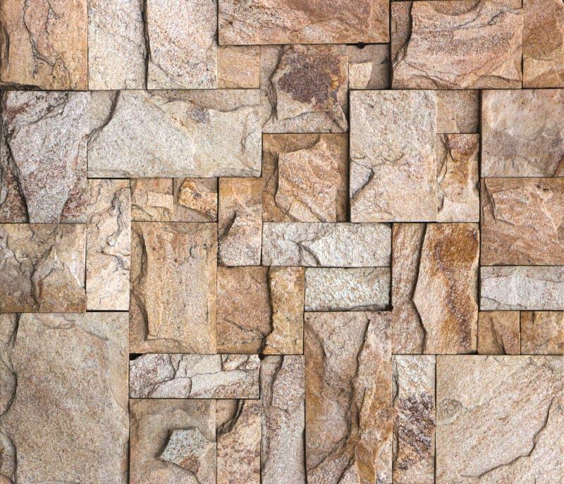 De textuur van de steenmuur, travertijntegels het onder ogen zien stock afbeeldingen