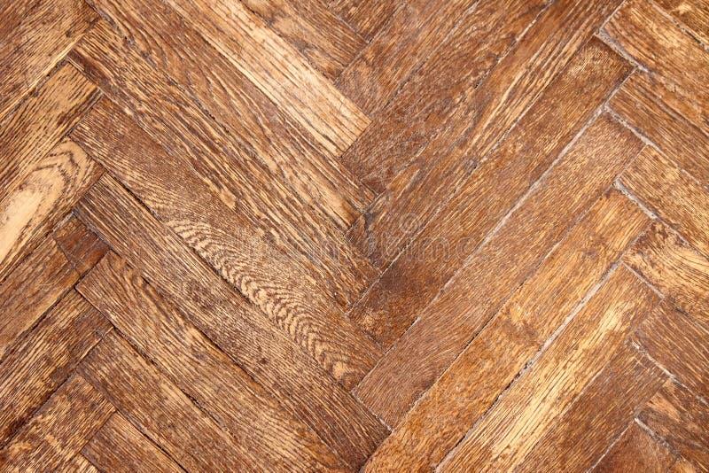 De textuur van de telefoon van houten donker gevernist parket stock foto's