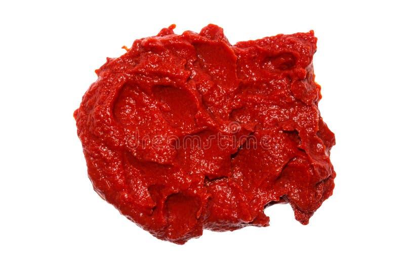 De textuur van tomatenpuree Ketchupachtergrond stock afbeelding