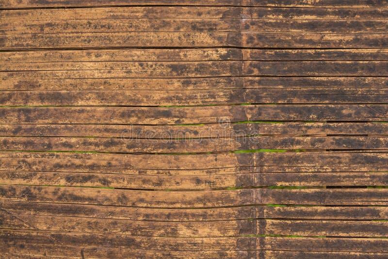 De textuurachtergrond van de bamboemuur royalty-vrije stock afbeeldingen