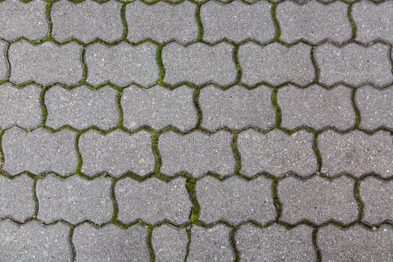 De textuurachtergrond van de straatsteenweg Sluit omhoog beeld royalty-vrije stock foto's