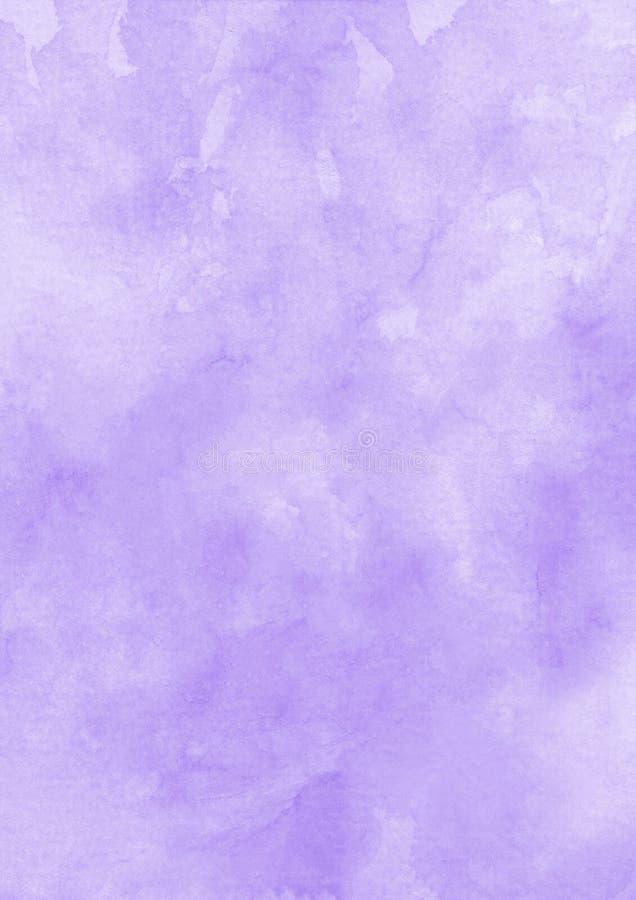 De textuurdocument van de inkt purpere waterverf achtergrond royalty-vrije stock afbeeldingen