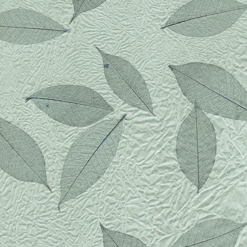 De textuurreeks van het blad. royalty-vrije illustratie