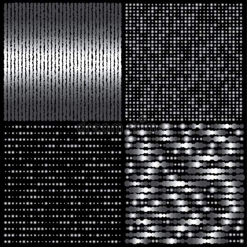 De textuurreeks van het metaal royalty-vrije illustratie